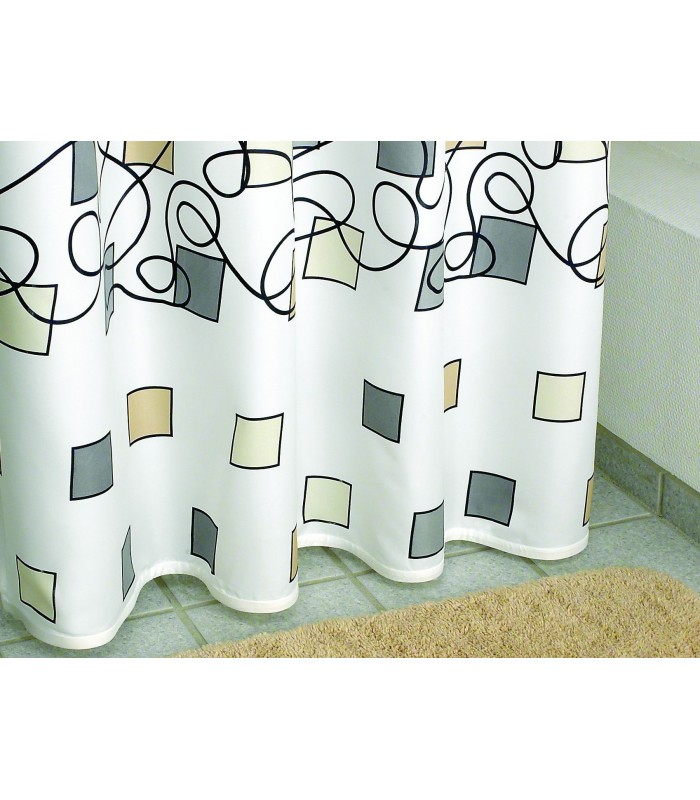 saturn schwarz shower curtain 180x200 karten. Black Bedroom Furniture Sets. Home Design Ideas