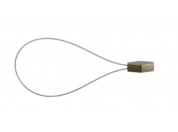 Klips magnetyczny DIAMENT długi złoty antyczny