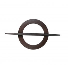 Decorative circle curtain buckle walnut